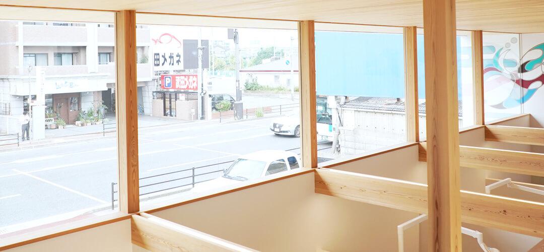採光を意識した大きな窓